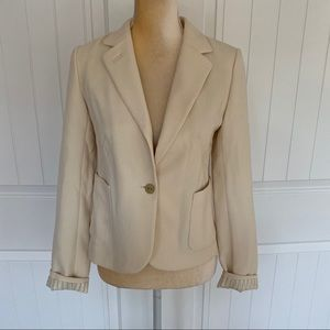 Anthropologie cream blazer jacket size 2